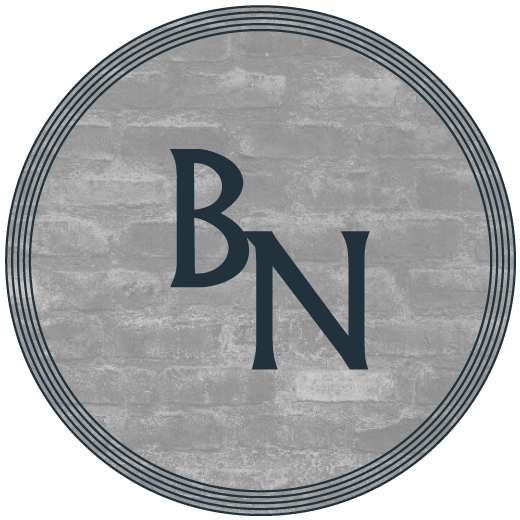 Baroque In The North circular logo, black text on grey background